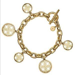 Michael Kors Heritage Gold Tone Charm Bracelet